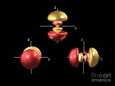 4p Electron Orbitals Art Print by Dr. Mark J. Winter