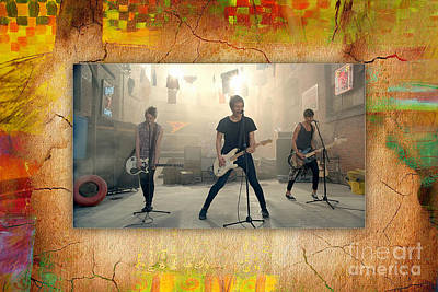 5 Seconds Of Summer  Art Print by Marvin Blaine