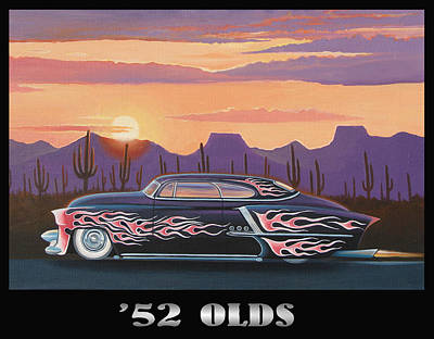 Made In Usa Art Painting - '52 Olds by Stuart Swartz