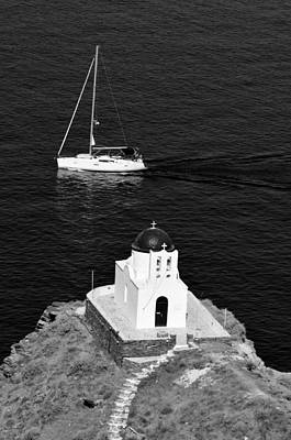 Kyklades Photograph - 7 Martyrs Chapel In Sifnos Island by George Atsametakis