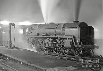 Photograph - 70014 Iron Duke Night Departure by David Birchall