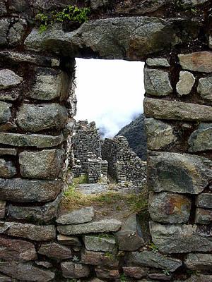 Peru Photograph - 9 Inca Trail Sayacmarca by Roger Burkart