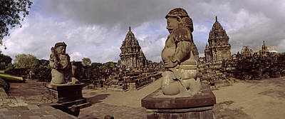 Temple Religion Photograph - 9th Century Hindu Temple Prambanan by Panoramic Images