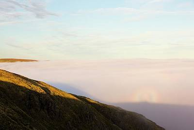A Broken Spectre On Red Screes Art Print
