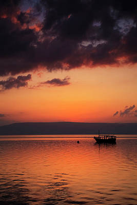 A Calm Settles On The Sea Of Galilee Art Print by Reynold Mainse