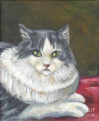 Art Print featuring the painting A Cat Of Peter Paul Rubens Style by Jingfen Hwu