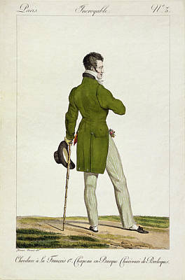 Person Drawing - A Dandy  by Antoine Charles Horace Vernet