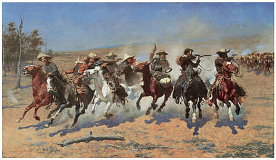 A Dash For The Timber Art Print by Frederic Remington