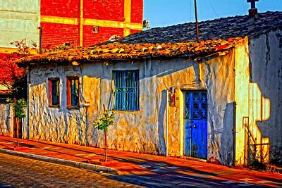 Turkish Mixed Media - A Digitally Constructed Painting A Turkish Village House by Ken Biggs