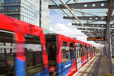 A Docklands Light Railway Train Art Print