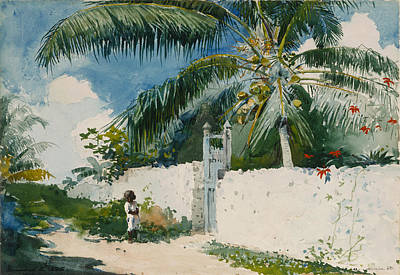 Winslow Homer Seascape Painting - A Garden In Nassau by Celestial Images