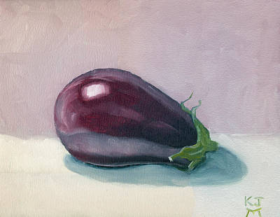 Painting - A Is For Aubergine by Katherine Miller