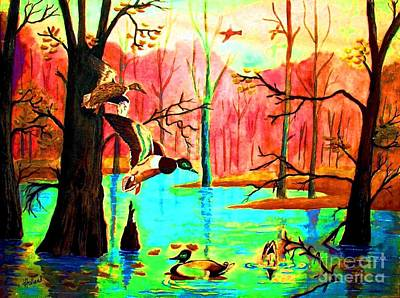 Roots And Wings Painting - A Joyous Reunion by Hazel Holland