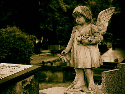 A Little Angel Watching Over Art Print by Mountain Dreams