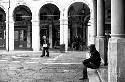 A Moment Photograph - A Moment In Venice by John Rizzuto