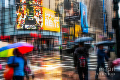 A Rainy Day In New York Art Print