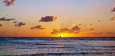 Photograph - A Sunset On Hawaii by Marek Poplawski