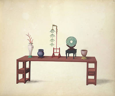 A Table And Ornaments Art Print