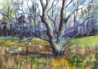 Dead Tree Drawing - A Tree For Thee by Carol Wisniewski
