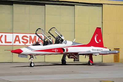 A Turkish Air Force F-5b-2000 Freedom Art Print by Daniele Faccioli
