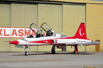 Jet Star Photograph - A Turkish Air Force F-5b-2000 Freedom by Daniele Faccioli