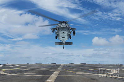 Abstract Graphics - A U.s. Navy Mh-60s Seahawk Helicopter by Stocktrek Images