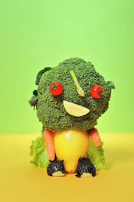Leaf Photograph - A Vegetable Doll by Yagi Studio