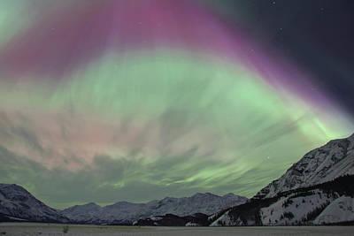 Alaska Photograph - A Vibrant Display Of Aurora Borealis by Hugh Rose