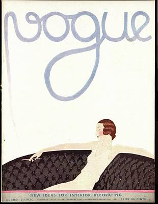 Photograph - A Vintage Vogue Magazine Cover Of A Woman by Andre E.  Marty