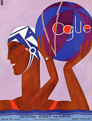 A Vintage Vogue Magazine Cover Of An African Art Print by Eduardo Garcia Benito