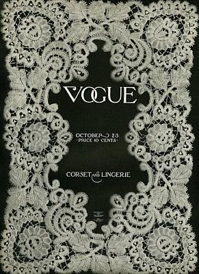 Fashion Design Photograph - A Vintage Vogue Magazine Cover by Artist Unknown