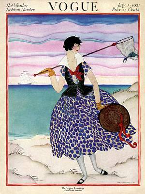 Fishing Boats Photograph - A Vogue Magazine Cover Of A Woman by Helen Dryden