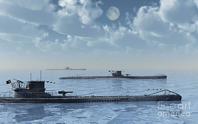Classic Christmas Movies - A Wolfpack Of German U-boat Submarines by Mark Stevenson