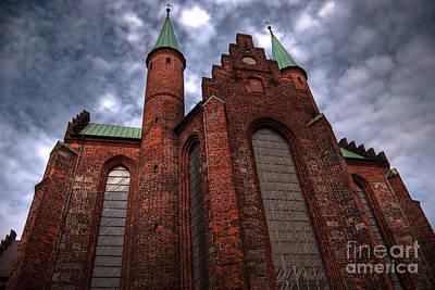 Aarhus Church Hdr Art Print by Antony McAulay