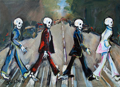 Skeletons Painting - Abbey Road by Sharon Sieben
