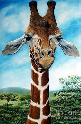 Giraffe Eyes Painting - Above It All by Joey Nash