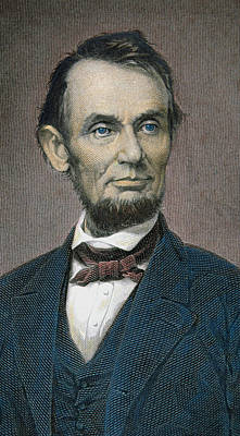 Statesmen Drawing - Abraham Lincoln by American School