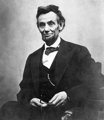 Photograph - Abraham Lincoln(1809-1865) by Granger
