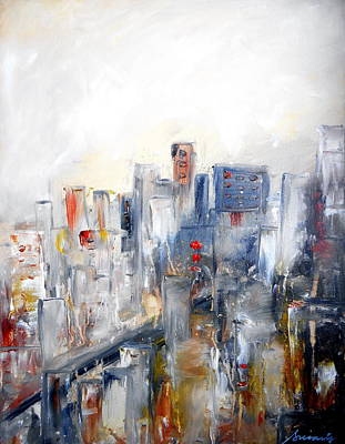Painting - Abstract Cityscape I by Pristine Cartera Turkus