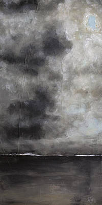 Painting - Abstract Contemporary Seascape Landscape Painting On Stretched Canvas by Gray  Artus