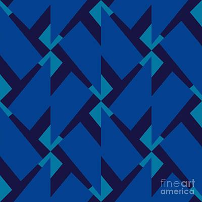 Element Wall Art - Digital Art - Abstract Retro Pattern. Vector by Artsandra