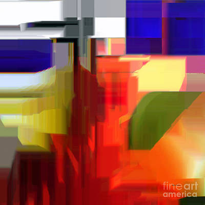 Digital Art - Abstract Series V by Rafael Salazar