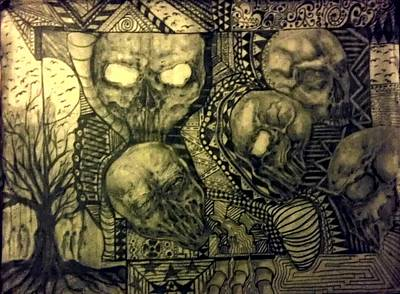 Abstract Skulls Original