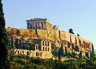 Acropolis Art Print by Ellen Henneke