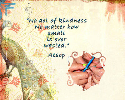 Act Of Kindness Art Print by Linda Cox