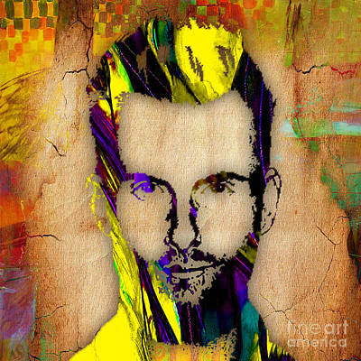 Singer Mixed Media - Adam Levine by Marvin Blaine