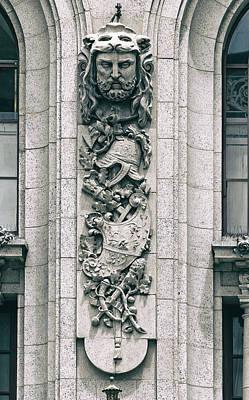 Relief Art Photograph - Adolphus Hotel Architectural Detail - Dallas Texas by Mountain Dreams