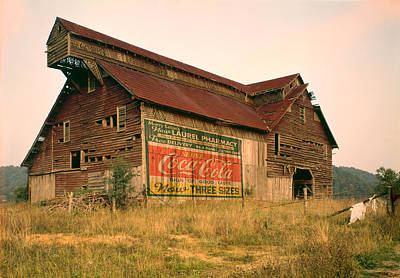 Digital Art - Advertising Barn by Gary Grayson