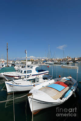 Summertime Photograph - Aegina Port by George Atsametakis