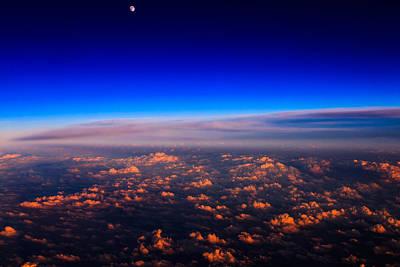 Aerial Moonrise Art Print by Jonathan Gewirtz
